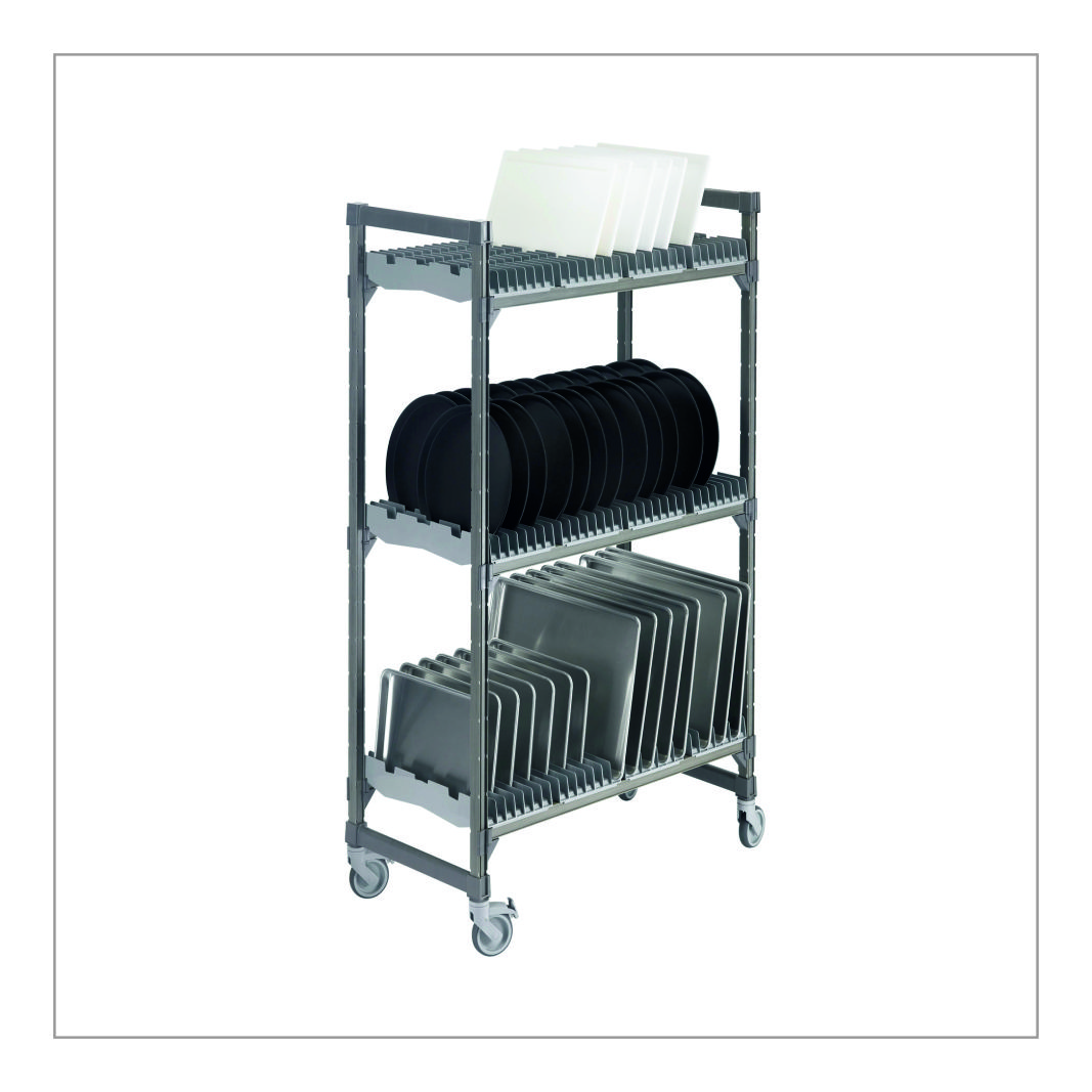 Plate Rack Trolley Small