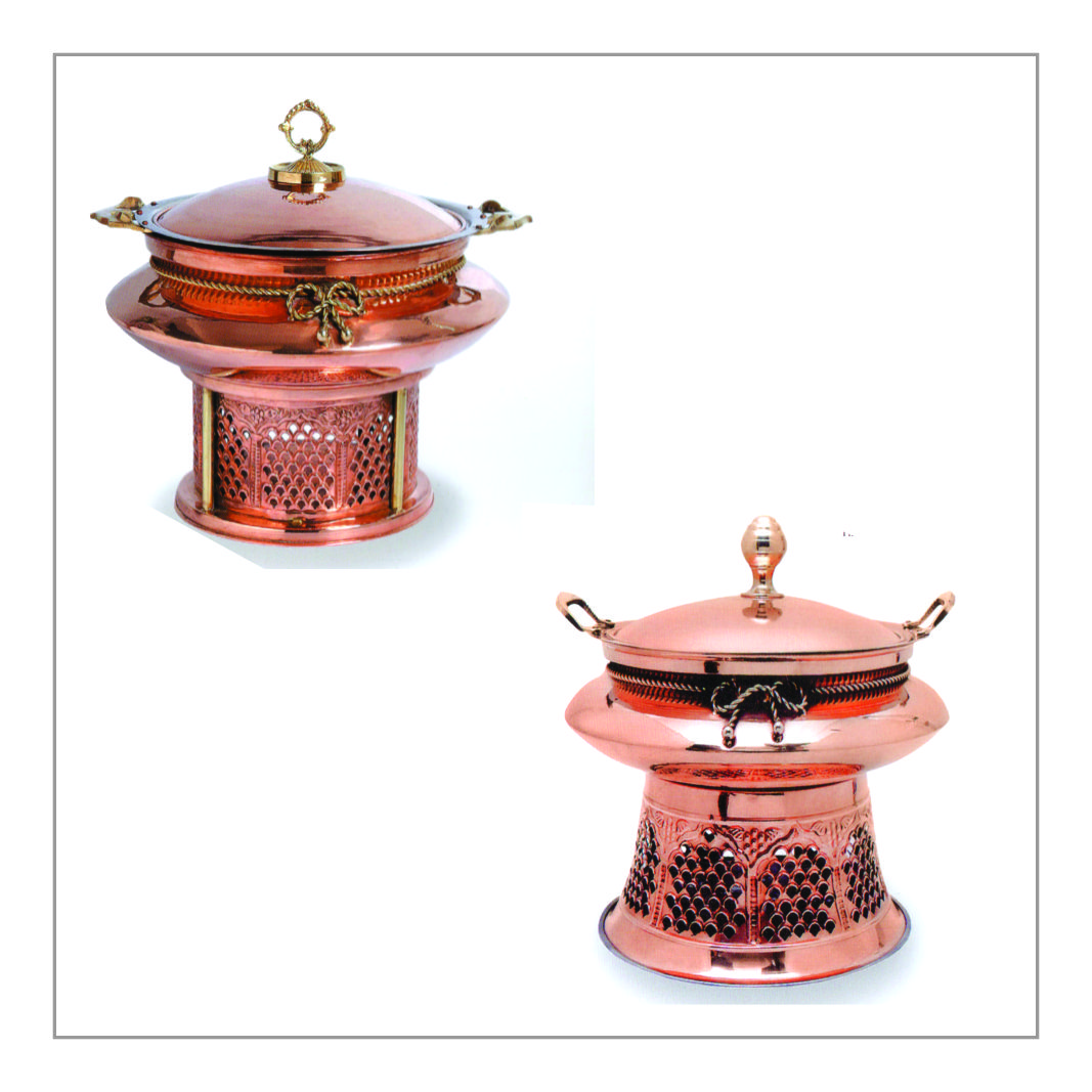 Round Royal Copper Chafing Dish