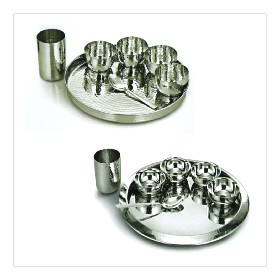 Thali Set - Hammered Finish