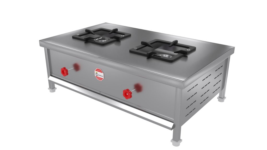 commercial two burner range
